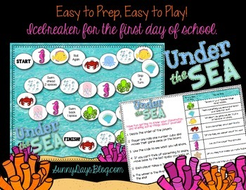First Day Icebreaker Game - You and Me, Under the Sea!