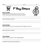 First Day Jitters Guide Sheet