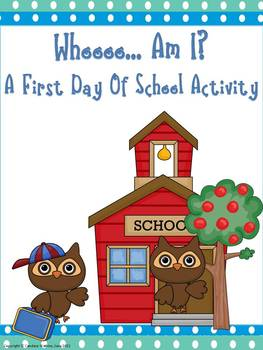First Day of School Activity: Who Am I?