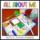 First Day of School: All About Me!