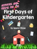 First Days Of Kindergarten Activities and Helpful Handouts