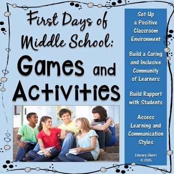 classroom management first days of middle school games and activities