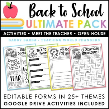 First Days of School Activities + Open House Essentials Kit