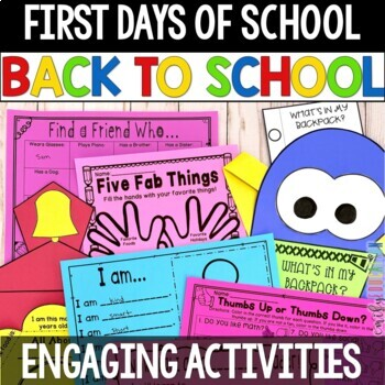 First Days of School Activity Pack