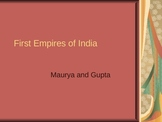 First Empires of India