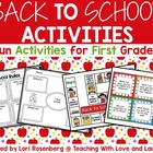 First Grade Back to School Language Activities