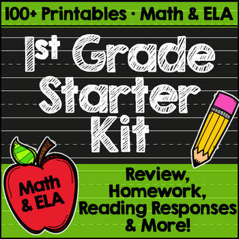 First Grade Back to School Printables: Math & ELA