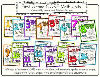 First Grade CORE Math Units 1-16