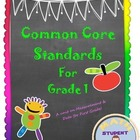 First Grade Common Core Bundle with the Standards & Objectives