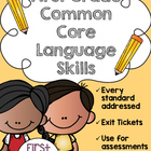 First Grade Common Core Language Skills {Language Art Skil