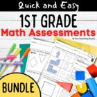 COMPLETE PACKET- First Grade Common Core Math  Assessments