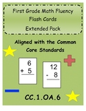 First Grade Common Core Math Fluency Flash Cards Extended
