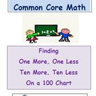 First Grade Common Core Math One More Less Ten More Less 1