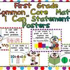 First Grade Common Core Standards MATH Posters