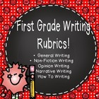 First Grade Common Core Standards Writing Rubrics
