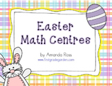 First Grade Easter Math Centres