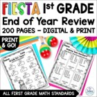 First Grade Fiesta End of Year Review BUNDLE First Grade C