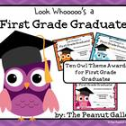 First Grade Graduation Certificates (Owl Theme)