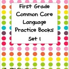 First Grade Language Common Core Practice Books 1-4