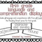 First Grade Language and Comprehension Displays