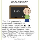 First Grade Math Assessment
