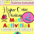 {Higher Order Thinking Activities} First Grade Math Common