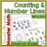 First Grade Math Counting & Number Lines {Monster Math} CC