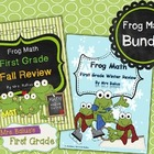 First Grade Math {Frog Math} Fall and Winter Reviews Double-Pack