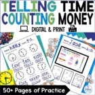 First Grade Math {Frog Math} Time and Money