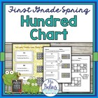 First Grade Math Place Value {Frog Math} Spring Hundred Chart