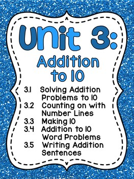 First Grade Math Unit 3