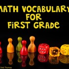 Math Vocabulary Posters for First Grade
