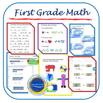 First Grade Math Worksheets - 42 worksheets