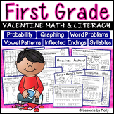 first grade math and literacy activities for valentine's day
