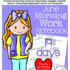 First Grade Morning Work - June