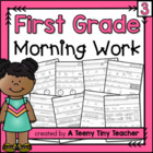 First Grade Morning Work Part 3 {Daily Language Arts and M