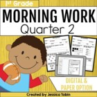 Morning Work for First Grade Common Core Set # 2 {Quarter