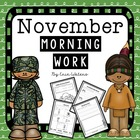 First Grade November Morning Work Pack
