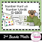First Grade Number Sense: Number Hunt using Number Words (1-120)