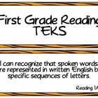 First Grade Reading TEKS~ Tiger