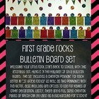 First Grade Rocks Chevron Pennant Bulletin Board Display