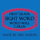 First Grade Sight Word - Word Wall Cards