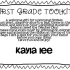 First Grade Toolkit