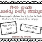 First Grade Weekly Story Displays