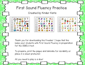 First Sound Fluency: DIBELS Practice
