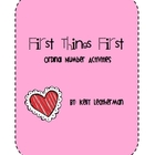 First Things First: Ordinal Number Activities