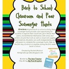 First Week: Back to School Classroom and Peer Scavenger Hunts