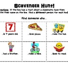First Week Human Scavenger Hunt! (Back to School)
