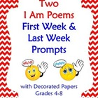 First Week or End of the Year Prompts: Two Versions of an