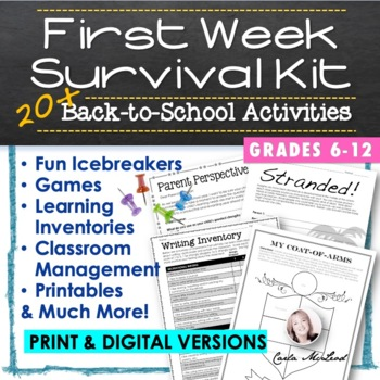 First Week Survival Kit:  20+ Back-to-School Activities and Learning Inventories
